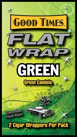 Good Times Flat Wrap GREEN 25-2'S 50 WRAPS