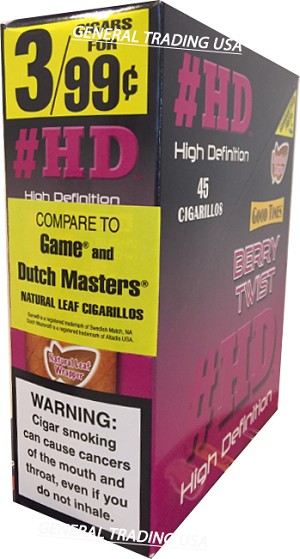 #HD High Definition Berry Twist 45 Cigarillos