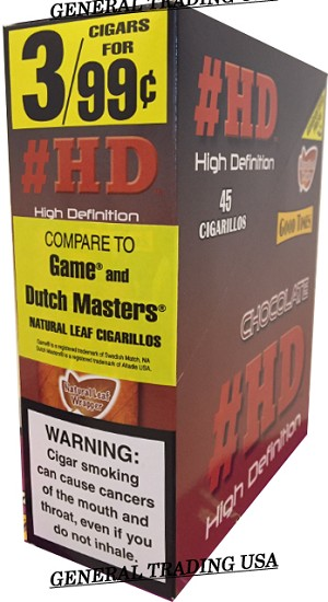 #HD High Definition Chocolate 45 Cigarillos