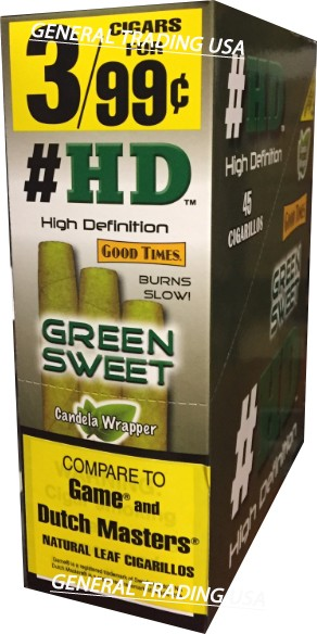 #HD High Definition Green Sweet 45 Cigarillos