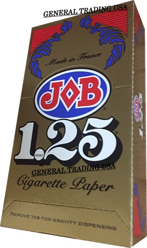 JOB CIGARETTE ROLLING PAPERS 1.25 24 BOOKLETS