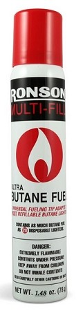 Lighters - One can of Ronson M/F butane lighter fluid 1.48 OZ