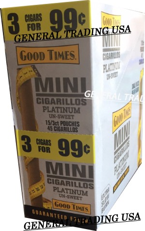 Good Times Platinum Un-Sweet Mini Cigarillos