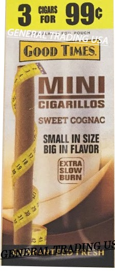 Good Times Mini Cigarillos Cognac 3 for 99 Cents - 45 Cigars