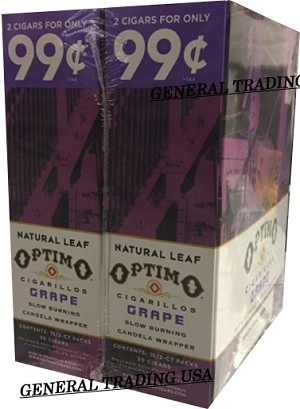OPTIMO CIGARILLOS GRAPE 2 for 99 60 CIGARS