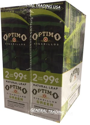 OPTIMO CIGARILLOS GREEN 60 CIGARS