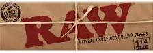 RAW NATURAL UNREFINED CLASSIC ROLLING PAPERS 1-1/4, 32 LEAVES