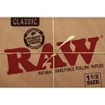 RAW NATURAL UNREFINED CLASSIC ROLLING PAPERS 1.5 SIZE, 32 LEAVES