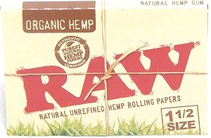 RAW NATURAL UNREFINED ORGANIC HEMP ROLLING PAPERS 1.5 SIZE, 32 LEAVES