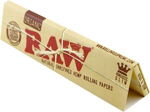 RAW NATURAL UNREFINED ORGANIC HEMP ROLLING PAPERS KING SIZE, 32 LEAVES