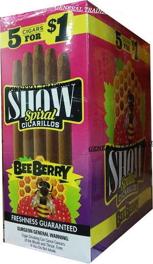 Show Spiral BEE BERRY Cigarillos 75 CT