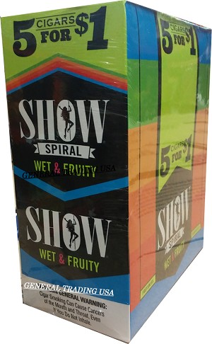 Show Spiral WET & FRUITY Cigarillos 75 CT