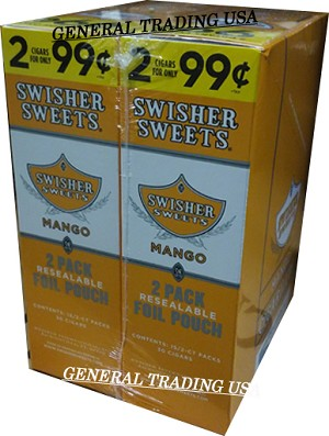 Swisher Sweets MANGO Cigarillos 2 for 99 60 CIGARS