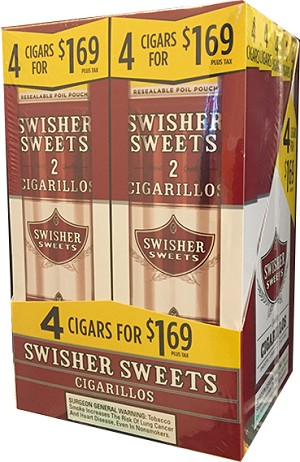 Swisher Sweets Regular Cigarillos 4 for $1.69 Special and Limited Time