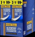 Good Times Blueberry Cigarillos 30 3's Total 90 Cigars