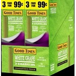 Good Times White Grape Cigarillos 30 3's Total 90 Cigars