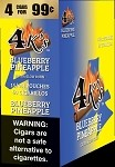 4K's Blueberry Pineapple Cigarillos 4 For $0.99  60 Cigars