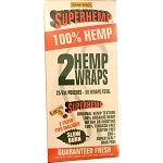 SuperHemp 100% Organic Hemp No Tar Or Nicotine 50 Wraps