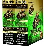 Wolf Brothers Un-Sweet - Irish Cream Natural Leaf Wrapper Cigars 120 Cigars