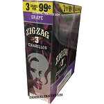 ZIG ZAG GRAPE CIGARILLOS 3 FOR $0.99 45 CIGARS