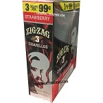 ZIG ZAG STRAWBERRY CIGARILLOS 3 FOR $0.99 45 CIGARS