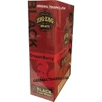 ZIG ZAG WRAPS DRAGONBERRY 50 PREMIUM BLACK CIGARS WRAPS