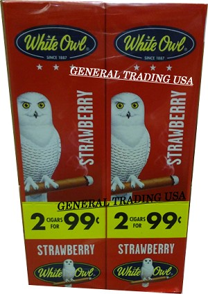 White Owl Cigarillos STRAWBERRY 2 for 99 60 Count