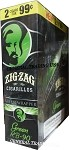 ZIG ZAG GREEN RB-90 CIGARILLOS 3 FOR $0.99 45 CIGARS