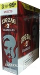 ZIG ZAG SWEET CIGARILLOS 3 FOR $0.99 45 CIGARS